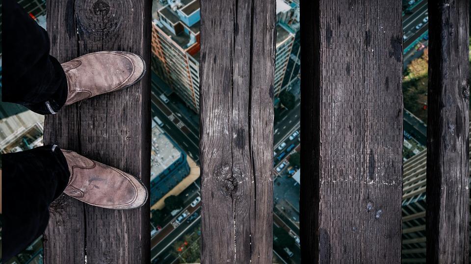 marcher en hauteurs