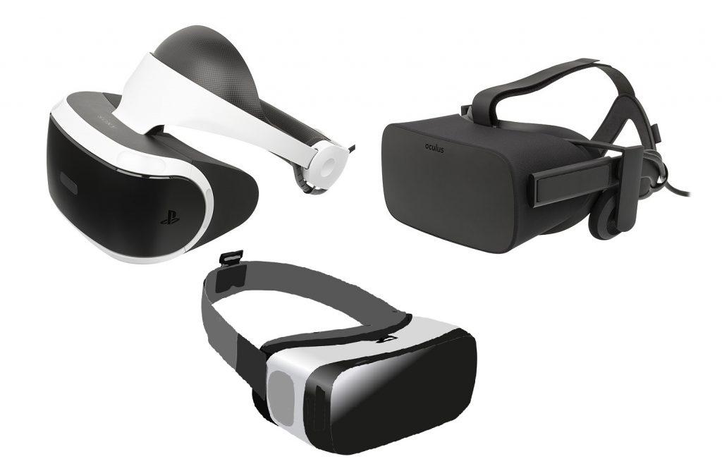 Image des casques PSVR, Oculus Rift et Gear VR