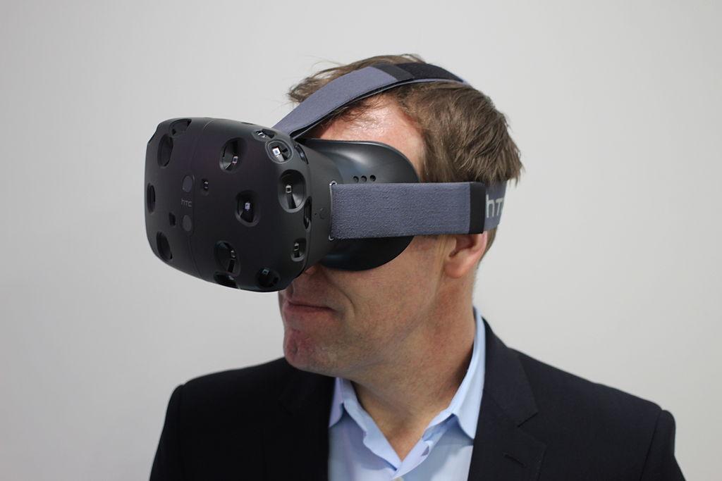 photo du casque VR HTC Vive