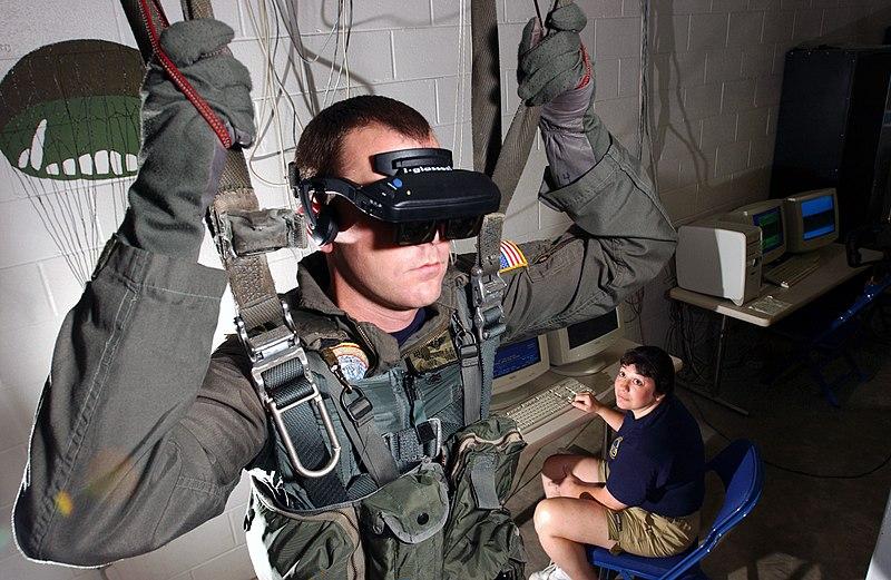Un essai de parachutisme via la réalité virtuelle