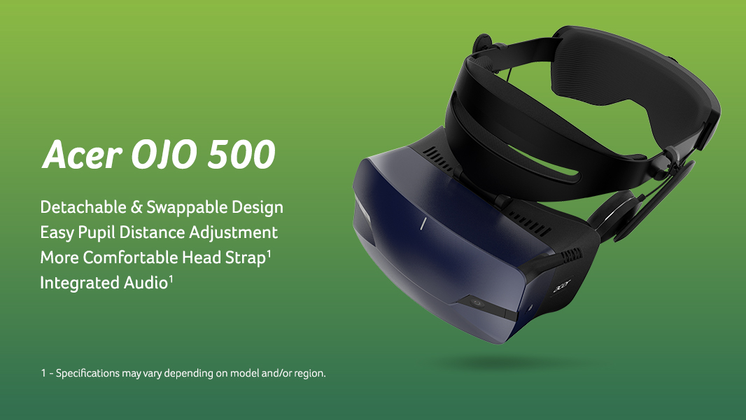 Casque VR Windows réalité mixte Acer OJO 500