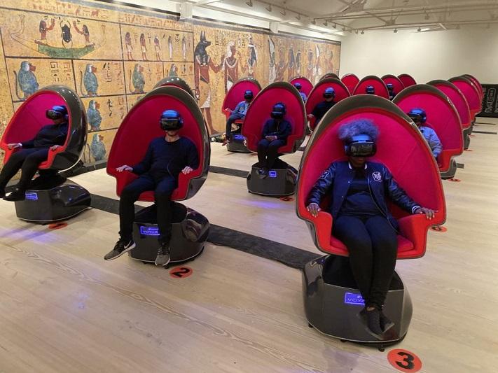 Exploration de la Tombe du Roi Tut en réalité virtuelle