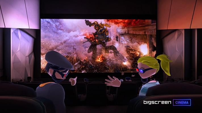 Application VR Bigscreen Cinema