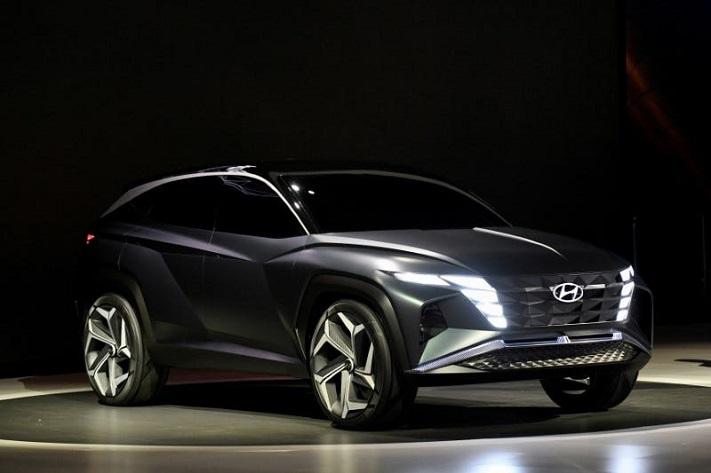 La voiture concept Vision T de Hyundai au salon de l'automobile de Los Angeles