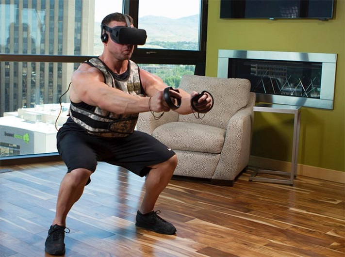 Squat en VR source vrfitnessinsider