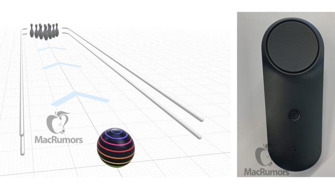 Un test de jeu de bowling (à gauche) et une fuite de contrôleur (à droite) source MacRumors
