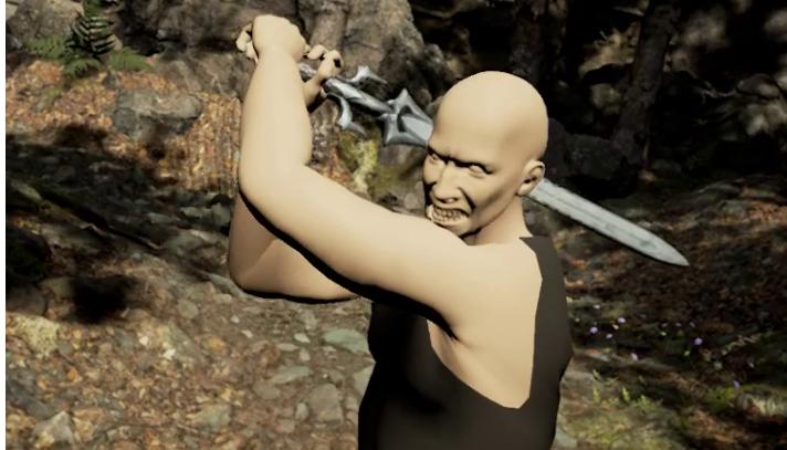 combats d'épée en réalité virtuelle
