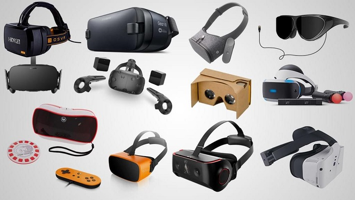 photo de différents casques VR