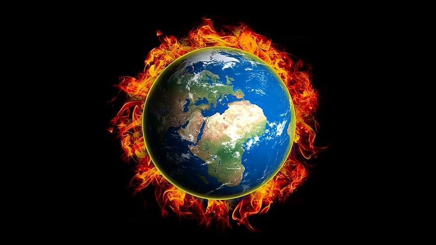 Photo représentant le changement climatique
