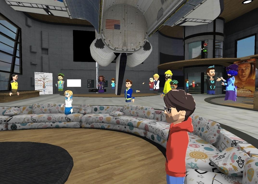 Rocket Party Altspace expériences spatiales