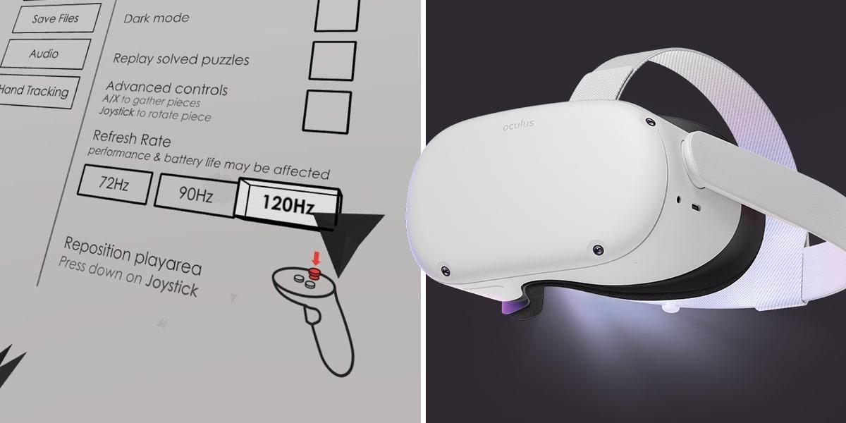 120 Hz sur Oculus Quest 2