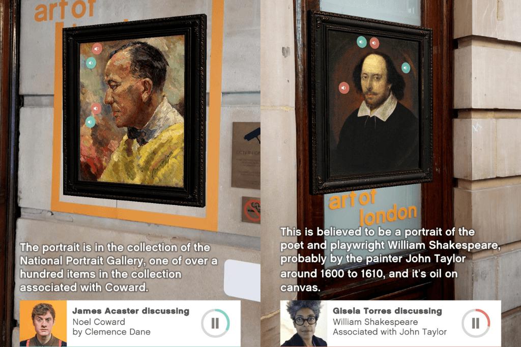 galerie Art of London Réalité augmentée