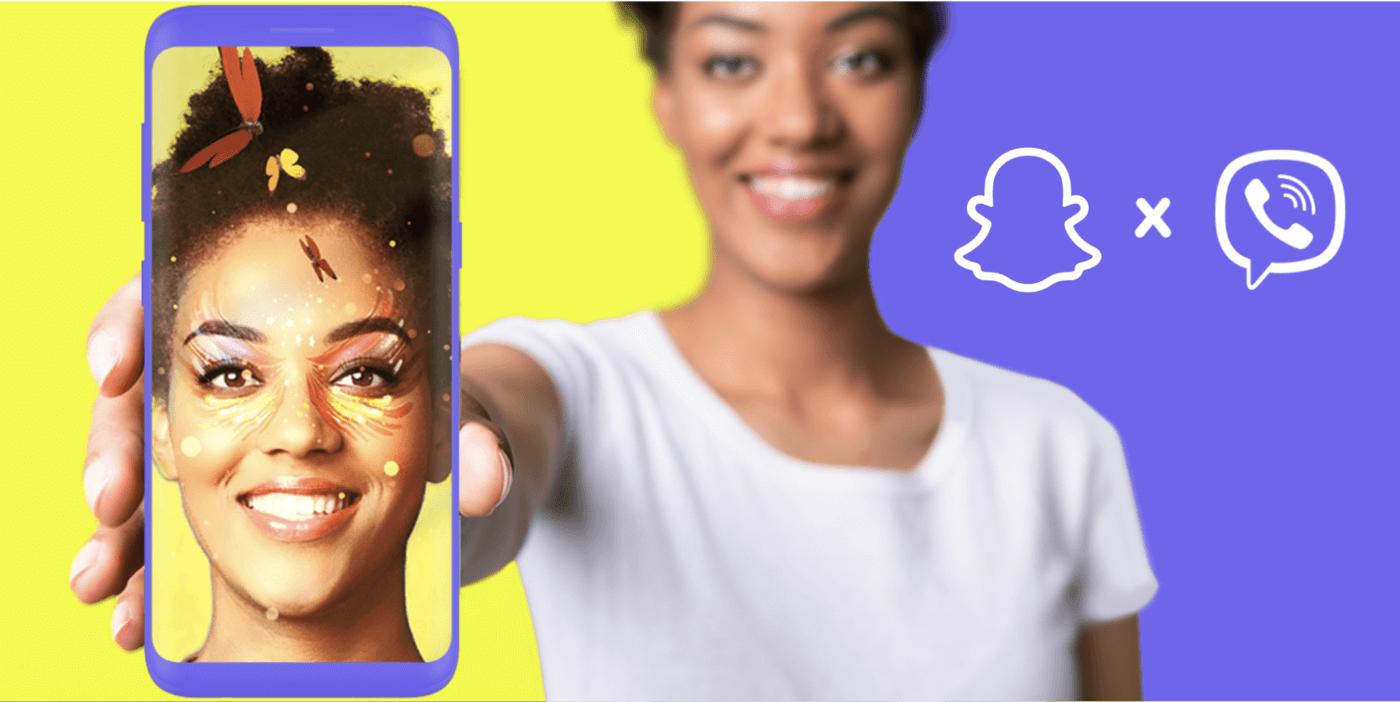 Snap introduit les lentilles AR dans Viber